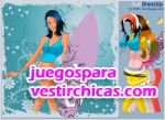 Juegos vestir chica surfera