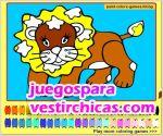 Juegos vestir colorear leon