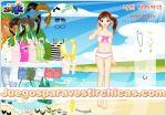 Juegos vestir vestir niña playa