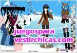 Juegos vestir invierno en la ciudad