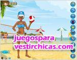 Juegos vestir voleybol en la playa