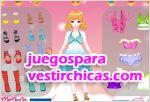Juegos vestir princesita rosa