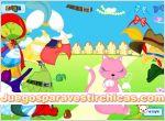 Juegos vestir vestir gato rosa