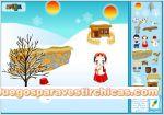 Juegos vestir decorar paisaje nevado