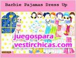 Juegos vestir barbie pajamas