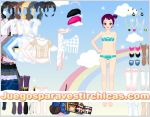 Juegos vestir bestir niña arcoiris