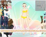 Juegos vestir vestir modelo chica