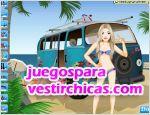 Juegos vestir hippie beach