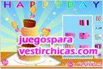 Juegos vestir birthday cake torta de cumplea�os