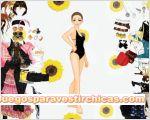 Juegos vestir chica girasol