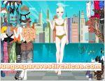 Juegos vestir chica foto ciudad