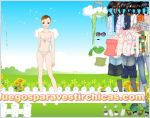 Juegos vestir vestir chica paseo pradera