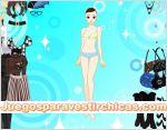 Juegos vestir vestir chica fondo celeste