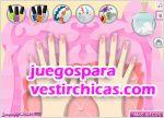 Juegos vestir decora y pinta manos y uñas