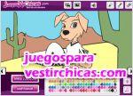 Juegos vestir colorear perro cachorro