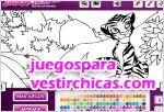 Juegos vestir juego de colorear a un tigre