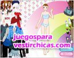 Juegos vestir vestir chica arcoiris