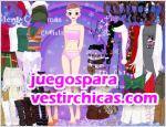 Juegos vestir chica violeta