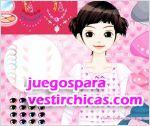 Juegos vestir maquillar chica moño rosa
