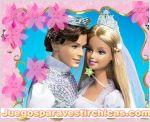 Juegos vestir vestir a barbie en su boda
