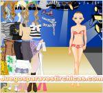Juegos vestir vestir chica joven de fiesta