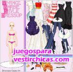 Juegos vestir estilo barbie antiguo