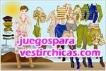 Juegos vestir look militar