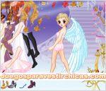 Juegos vestir vestir muñeca angel