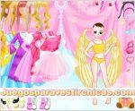 Juegos vestir vestir niña angel alada