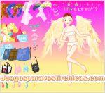 Juegos vestir vestir angel princesa