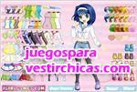Juegos vestir vestir a una pequeña niña anime