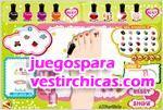 Juegos vestir decorando uñas
