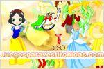 Juegos vestir vestir chica de cuento blancanieves