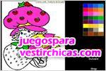 Juegos vestir colorea a frutillita
