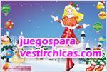 Juegos vestir princesa navideña