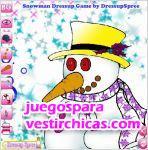 Juegos vestir mu�eco de nieve