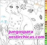 Juegos vestir colorea al zorro